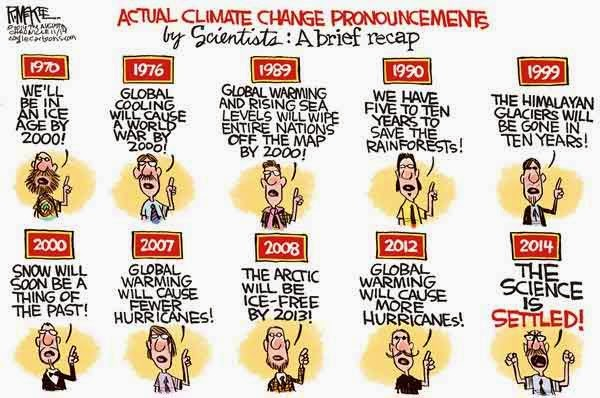 Cartoon - Climate Change Predictions